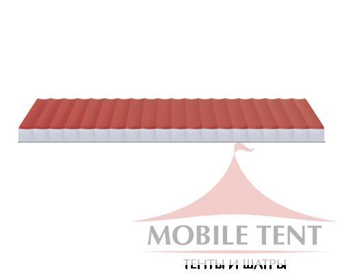 Арочный ангар 40х100 м Схема 3