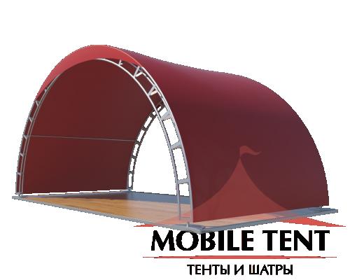 Арочный шатер 10х5 - 50 м² Схема 3