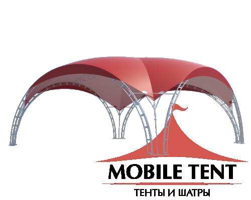 Арочный шатёр 10х10 — 100 м²(V) Схема 2