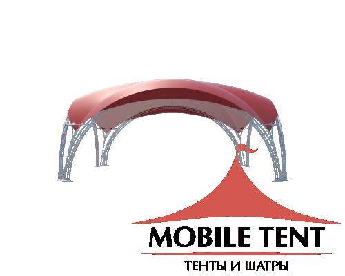 Арочный шатёр 10х10 — 100 м²(V) Схема 3