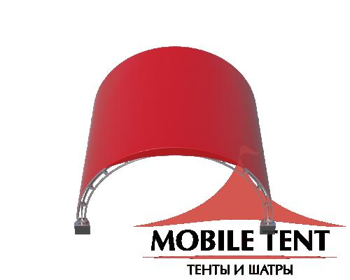 Арочный шатёр 16х16 — 256 м² (B) Схема