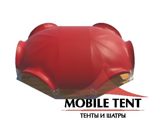 Арочный шатёр 18х15 — 241 м² Схема