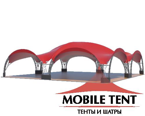 Арочный шатёр 20х20 — 400 м² Схема 2