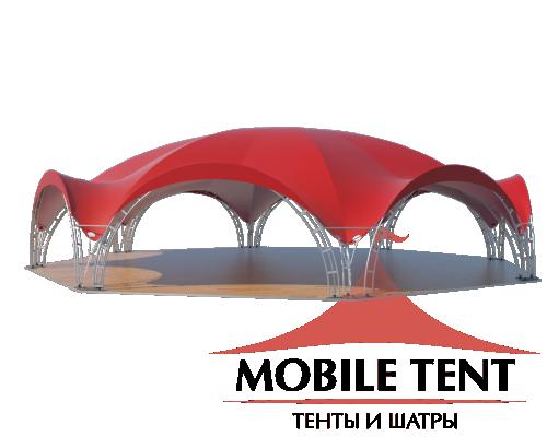 Арочный шатёр 26х24 — 460 м² Схема 3