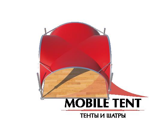 Арочный шатёр 3,5х3,5 — 12,25 м² Схема