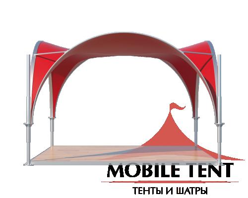 Арочный шатёр 3.5х3.5 — 12,25 м²(V) Схема 1