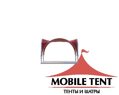 Арочный шатёр 5х5 — 25 м²(V) Схема 2