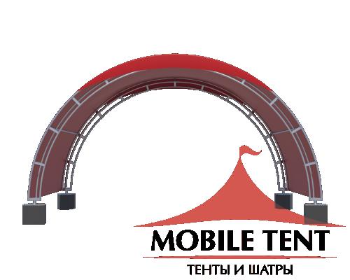 Арочный шатёр 6х3 — 18 м² Схема 1