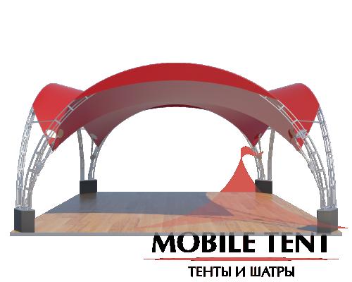 Арочный шатёр 6х6 — 36 м² Схема 3
