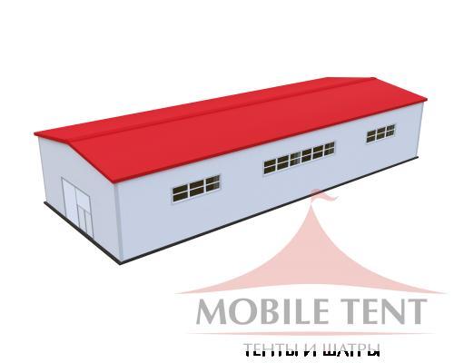 Каркасный ангар 15х40 м Схема 1