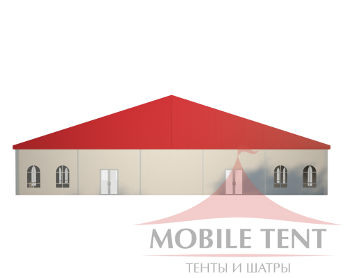 Классический шатёр 25х30 Схема 2