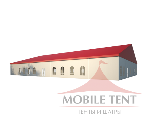 Классический шатёр — 25х35 Схема 1