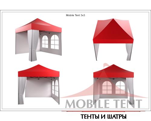 Мобильный шатёр Hard Prof 3х3 Схема 4