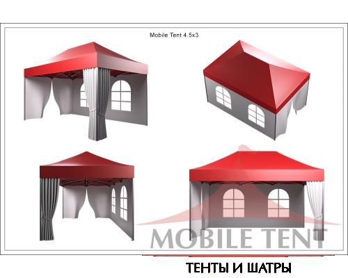 Мобильный шатёр Prof 3х4.5 Схема 5