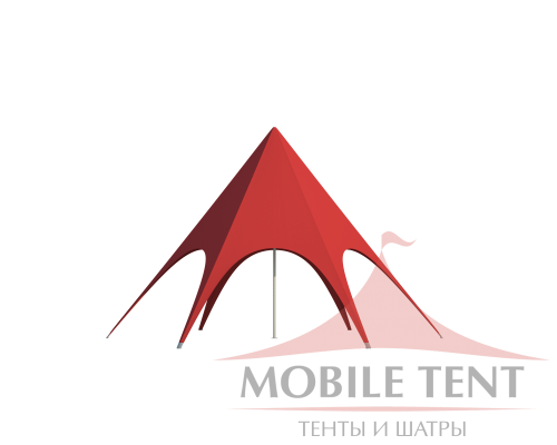 Шатёр Звезда (Диаметр 8 м) Схема 2
