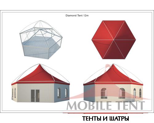 Шестигранный шатёр Лондон (Диаметр 12 м) Схема 5