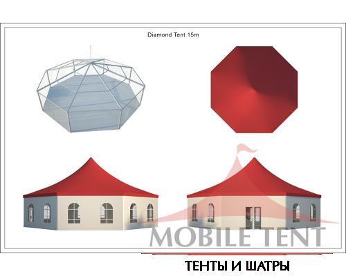 Шестигранный шатёр Римини (Диаметр 15 м) Схема 5