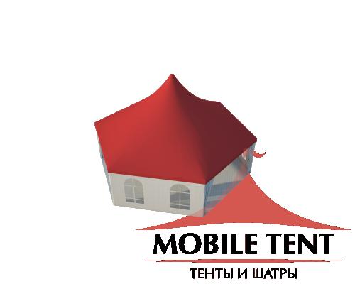 Шестигранный шатёр Стандарт (Диаметр 10 м) Схема