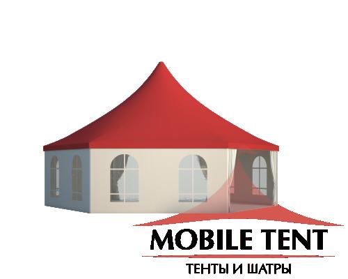 Шестигранный шатёр Стандарт (Диаметр 10 м) Схема 2