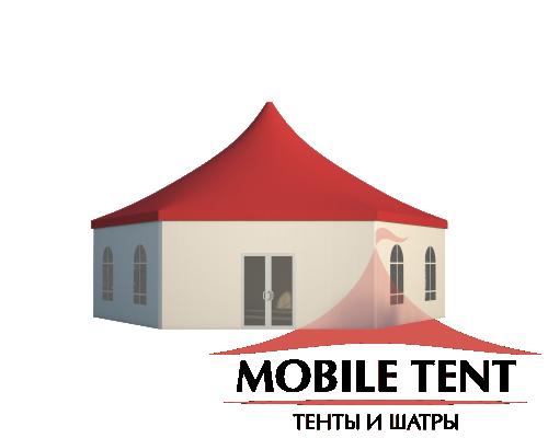 Шестигранный шатёр Стандарт (Диаметр 12 м) Схема 2