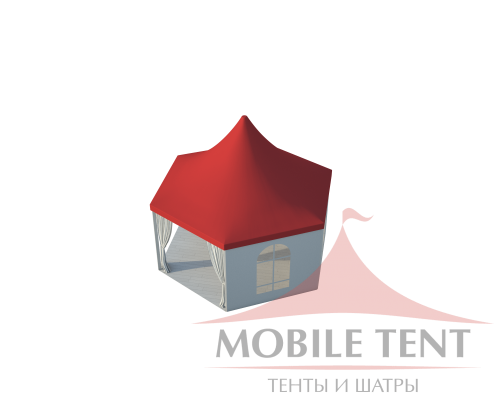 Шестигранный шатёр Стандарт (Диаметр 6 м) Схема