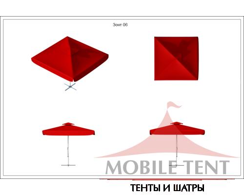 Зонт Premium 3х3 Схема 1