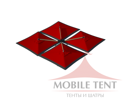 Зонт Quatro 10x10 Схема