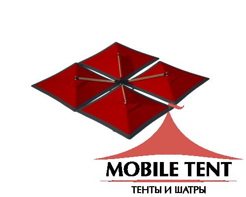 Зонт Quatro 6х6 Схема