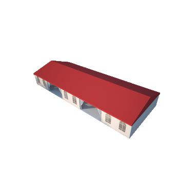 Классический шатёр 10х25 Схема