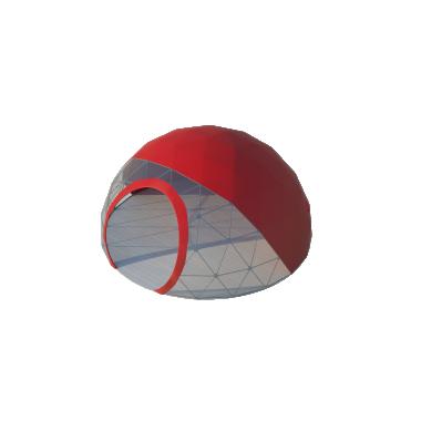 Сферический шатер диаметр 6 м Схема