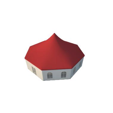 Шестигранный шатёр Римини (Диаметр 15 м) Схема