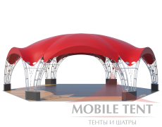 Арочный шатёр 15х13 — 163 м² Схема 1