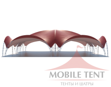 Арочный шатёр 25х20 — 500 м² Схема 2