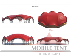 Арочный шатёр 27х20 — 460 м² Схема 4