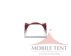 Арочный шатёр 5х5 — 25 м² Схема 2