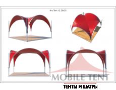 Арочный шатёр 5х5 — 25 м² Схема 5