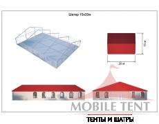 Классический шатёр 15х20 Схема 5