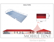 Классический шатёр 15х30 Схема 5
