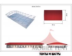 Шатёр для выставок 20х35 Схема 5