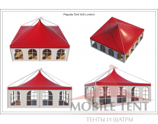 Шатёр Пагода Лондон 8х8 Схема 4