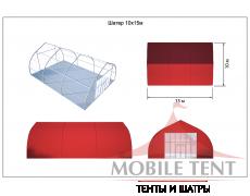 Тентовый ангар 10х15 Схема 5