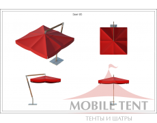 Зонт Premium Side 2х2 Схема 1