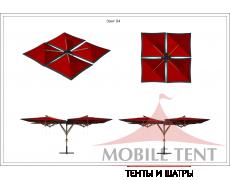 Зонт Quatro 8х8 Схема 1