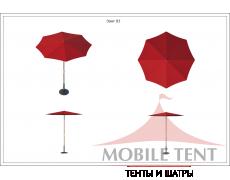 Зонт Standart диаметр 2 Схема 1