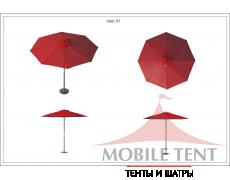 Зонт Standart диаметр 4 Схема 1