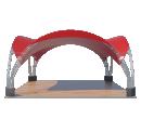 Арочный шатёр 10х10 — 100 м² Схема 1