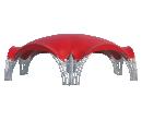 Арочный шатёр 15х13 — 163 м² Схема 2