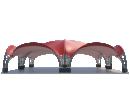 Арочный шатёр 16х16 — 256 м² Схема 1
