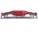 Арочный шатёр 25х20 — 500 м² Схема 1