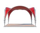 Арочный шатёр 5х5 — 25 м² Схема 1